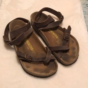 Authentic Birkenstocks with Ankle Strap